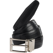 Street Wear Little Boys/Boys Bonded Leather Reversible Black to Brown Belt 30mm