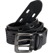 Street Wear Little Boys/Boys Bonded Leather Adjustable Belt Black 30mm