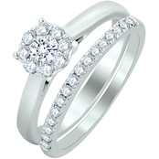 Endless Diamond 14K White Gold 2/3 CTW Diamond Bridal Set
