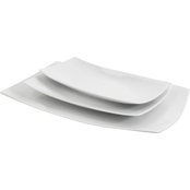 Gibson Elite Gracious Dining 14 In. Rectangle Platter