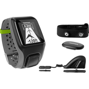 TomTom MultiSport GPS Watch with HRM+Cadence Sensor  IRS000102