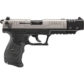 Walther P22-CA 22 LR 3.4 in. Barrel 10 Rnd Pistol Nickel with Compensator