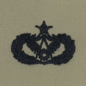 Air Force Chapel Mgmt Senior Embroidered Sew-On Badge