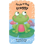 Scrub-A-Dub Froggy: Bath Mitt and Book Set