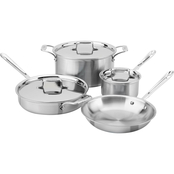 All-Clad d5 Brushed Stainless 7 pc. Cookware Set