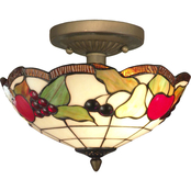 Dale Tiffany Fruit Semi Flush Light Fixture