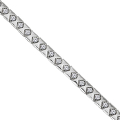 Love Honor Cherish Sterling Silver 1/8 CTW Diamond Pyramid Bracelet