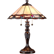 Dale Tiffany Aldridge Peacock Table Lamp