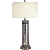 Dale Tiffany Silver Mosaic Table Lamp