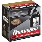 Remington Ultimate Defense 9mm 124 Gr. Brass Jacketed Hollow Point, 20 Rounds