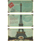 Uttermost Eiffel Tower Carte Postales 3 Pc. Set