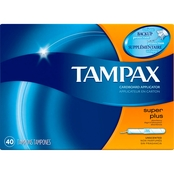 Tampax Cardboard Super Plus Absorbency Tampons, Unscented 40 ct.