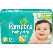 PAMPERS BABY DRY SIZE2 JUMBO 37CT