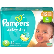 PAMPERS BABY DRY S3 JUMBO 32CT