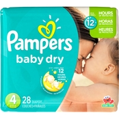 Pampers Baby Dry Diapers Size 4, 28 ct.