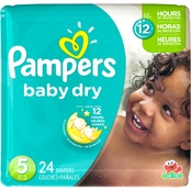 Pampers Baby Dry Diapers Size 5 (27+ lb.) Choose Count