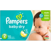 Pampers Baby Dry Super Pack Diapers Size 2 (12-18 lb.), 112 Ct.