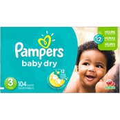 Pampers Baby Dry Super Pack Diapers Size 3 (16-28 lb.)