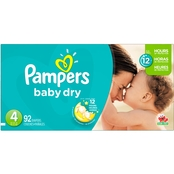 Pampers Baby Dry Super Pack Diapers Size 4 (22-37 lb.), 92 Ct.