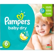 Pampers Baby Dry Super Pack Diapers Size 6 (35+ lb.)