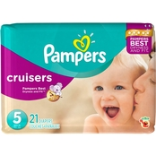 Pampers Cruisers Diapers Size 5, 21 ct.