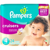 PAMPERS CRUISERS SIZE 4 JUMBO 24CT