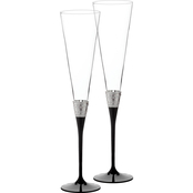Wedgwood by Vera Wang With Love Noir 2 pc. Toasting Flute Set
