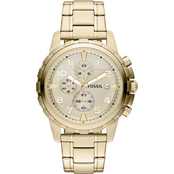 Fossil Men's Dean Goldtone Stainless Steel Chronograph FS4867
