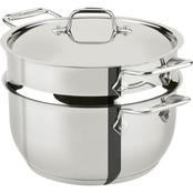 All-Clad Stainless Steel 5 qt. Covered Steamer with Insert