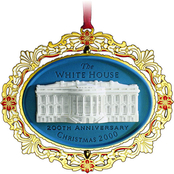 ChemArt 2000 White House Christmas Ornament