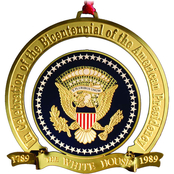 ChemArt 1989 White House Christmas Ornament, The Bicentennial of the Presidency
