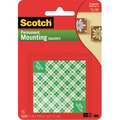 Scotch Permanent Mounting Squares, .5 X .5 in. 96 Pk.