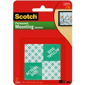 Scotch Permanent Mounting Squares, 1 X 1 in. 16 Pk.