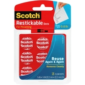 Scotch Restickable Dots, 7/8 X 7/8 in. 18 Pk.