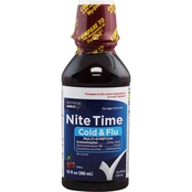 Exchange Select Nighttime Cold and Flu  Liquid 12 Oz.