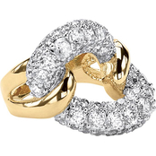 PalmBeach 14K Gold Plated Cubic Zirconia Link Ring