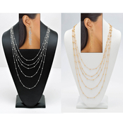 PalmBeach Silvertone Necklace and Earrings Set with FREE Goldtone Set