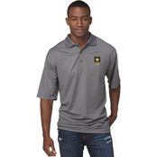 Duke Performance Polo with Embroidered Army Insignia Gray