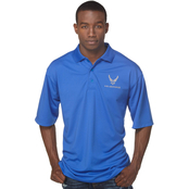 Duke Performance Polo with Embroidered Air Force Insignia