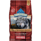 Blue Buffalo Wilderness Rocky Mountain Red Meat Recipe Small Breed Dog Food 4 lb.