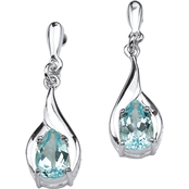 PalmBeach Sterling Silver Blue Topaz Earrings
