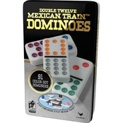 Cardinal Games Double Twelve Mexican Train Dominoes Game Set