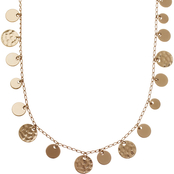 Nine West Disc Drop Necklace