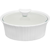 Corningware French White III 1.5 Qt. Round Casserole with Glass Cover