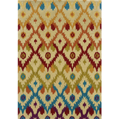 Linon Trio Collection Ikat Rug