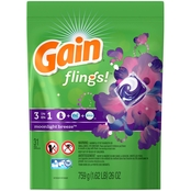 Gain Flings! Moonlight Breeze Laundry Detergent Pacs 31 ct.