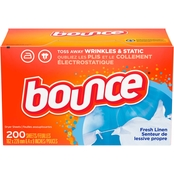 Bounce Fresh Linen Dryer Fabric Softener Sheets 200 Pk.