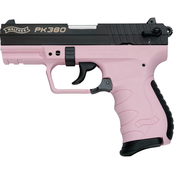 Walther PK380 380 ACP 3.6 in. Barrel 8 Rds 1-Mag Pistol Black with Pink Frame