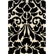 Linon Trio Collection Damask Area Rug