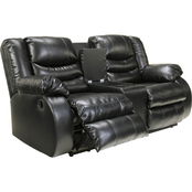 Ashley Linebacker Reclining Console Loveseat